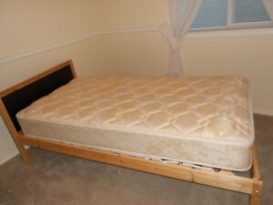 Twin single Ikea bed frame with Sealy mattress   $185 combo