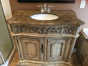 36'' Bathroom French Vanity Cabinet