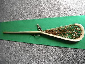 """vintage """"woody"""" lacrosse stick"""