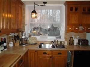 Stainless steel kitchen top-mounted sink and faucet West Island Greater Montréal image 2