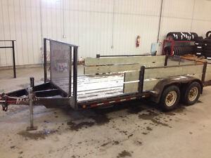 USED - 2002 Majestik L260 16ft Trailer with Slide in Ramps