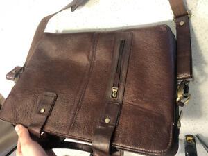 Brown Leather Laptop / Messenger Bag