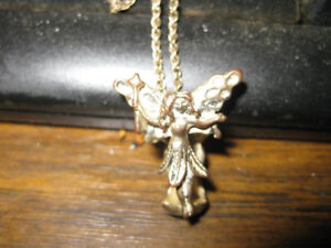 Gold & silver tone Angel Pendant