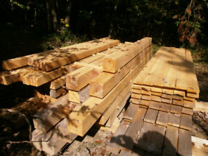 white cedar lumber and posts