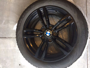 BMW Black Rims and Winter Tires 17 inch and Free BMW Mats