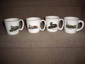 QUAKER OATS VINTAGE TRAIN MUGS