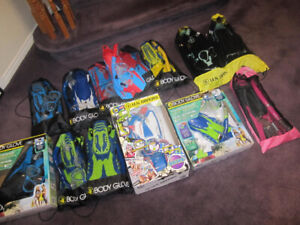 Body Glove Youth Snorkel Sets -Mask, Fins, Snorkel (Some Adults)