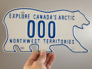 License Plate northwest territories
