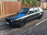 BMW E30 ESTATE 328i CONVERSION, DRIFT, RWD, BORBET ALLOYS, PART EXCHANGE TO CLEAR