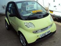 Smart Car for two Pulse Softip –CHEAPER TO INSURE & TAX £30Semi Auto – 599cc