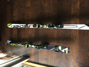 Fischer Downhill skis for sale including bindings!