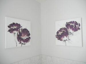Décorations murales et lampe