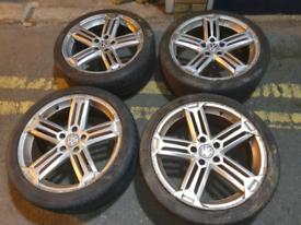 "18"" 5x112 VW segment style alloy wheels golf polo gti audi s line"