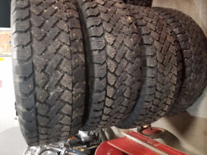4-235/70/16 studded winter tires on Ford escape rims