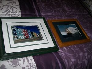Two Newfoundland Pictures in wooden frames, excellent condition.