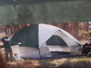 "COLEMAN TENT 6 person Sundome 12x10 ft with 72"" center."