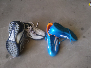 Indoor and outdoor kids soccer shoes. Size 5(indoor) and 5.5