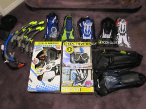 US Divers Youth Snorkel Sets - Mask, Fins, Snorkel (Some Adults)