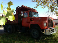 Mack tractor, dump, chassis
