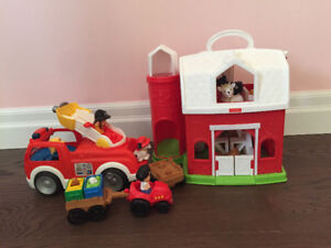 Fisher Price Little People Farm and Fire Truck