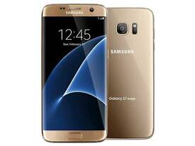 Samsung 7 edge gold o2 with bluetooth charger and case