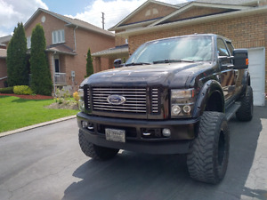 Lifted Ford F350 Harley Davidson Edition