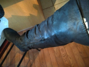 Black over-the-knee tall boots brand new