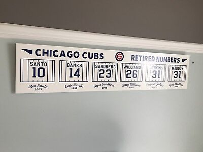 Chicago Cubs Retired Numbers Collectible Sign Memorabilia MLB 48