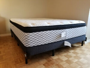 Queen Size Bed-set (SERTA Mattress + metal Frame)