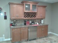 Solid Cherrywood Cabinet doors, drawer fronts, & hardware