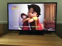 "Hitachi 40"" Full HD LED TV (6 months old) + Bush Bluetooth Soundbar with Subwoofer"
