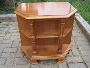 Roxton Side Table With Shelf - Great Quality Made Piece