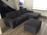 Sofa 3 seats / 2 seat and chaise longue ikea kivik