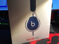 Beats EP in blue over the head. Still in the box and Unopened