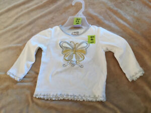18 months butterfly long sleeved top