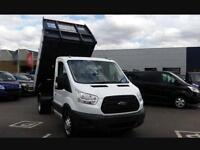 FORD TRANSIT TIPPER 350 L2H1 2.2 tdci 1stop tipper 125psi, White, Manual, Diesel