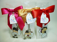 Wedding Keychain Favors Include Bows and Tags (New)