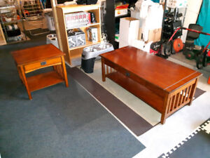 Mission Style Coffee and End Table Set