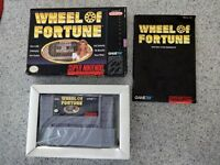 Super Nintendo Video Game - Wheel of Fortune w/Box- Instructions