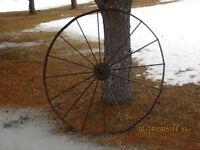 LARGE OLD MEDAL WHEEL, GREAT ORNAMENT