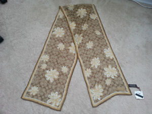 Coach sheer signature floral scarf