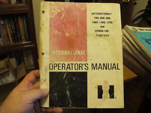 IH 786, 886, 986, 1086, 1486, 1586 Tractor Operator Manual