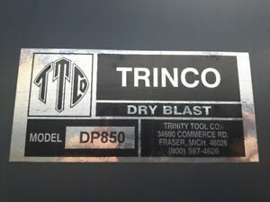 TRINCO INDUSTRIAL DRY (SAND) BLAST CABINET & DUST COLLECTOR