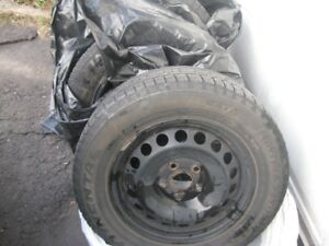 "VW JETTA SNOW TIRES & RIMS 105/65R15"" ON 5X112 BOLT PATTERN"