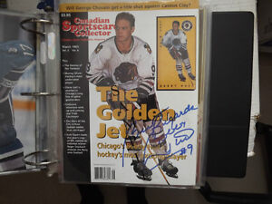 "FS: Bobby Hull ""Autographed"" March 1965 Vol.5 No.6 Canadian Spor"