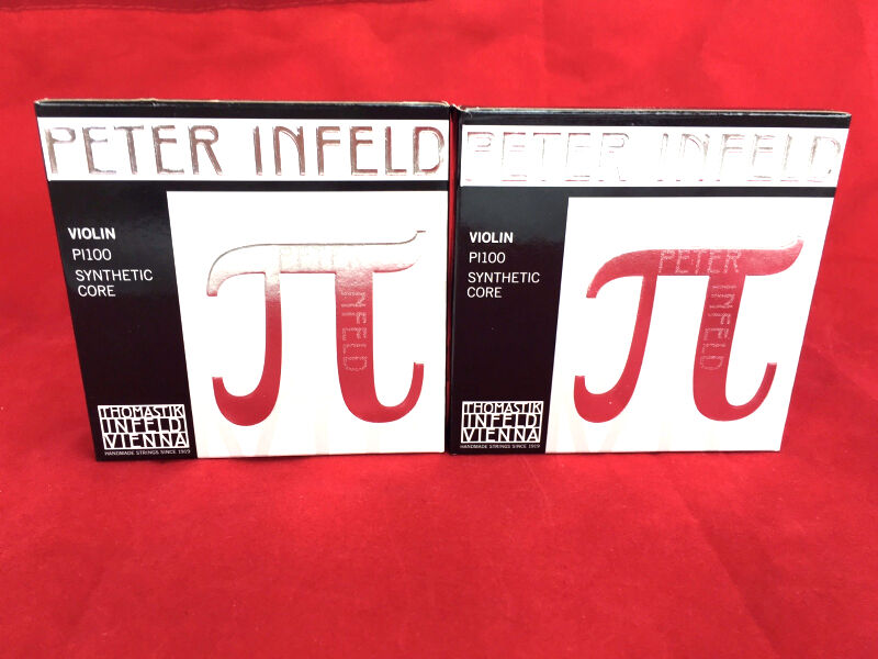 2 x Thomastik Peter Infeld Violin String  Set 4/4 with Platinum E