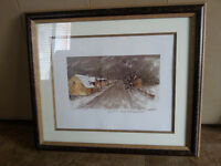 BEAUTIFUL OIL PAINTING by french artist on a SOLID wood frame  1