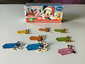 6 Disney Kinder toys and 8 gift tags