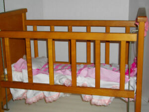 Doll crib - with drop side - fits American Girl Bitty Twins