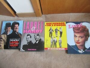 Movie Books Laural and Hardy,Three Stoges and I love Lucy